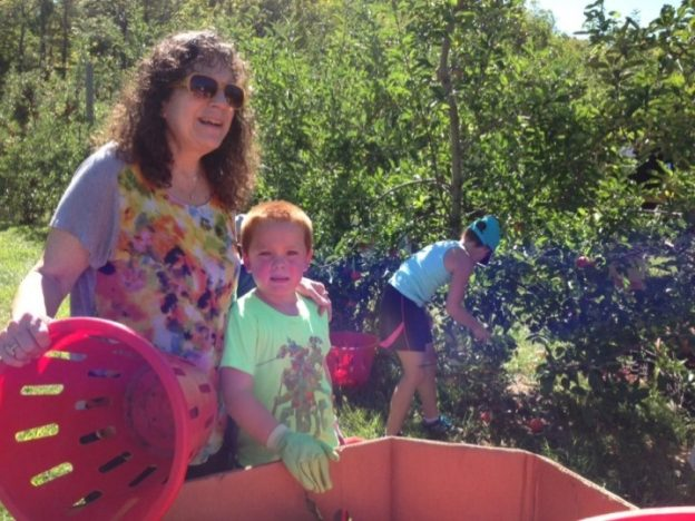 Anne Gorman and her grandson at last year's America's Grow-a-Row Harvest Day.