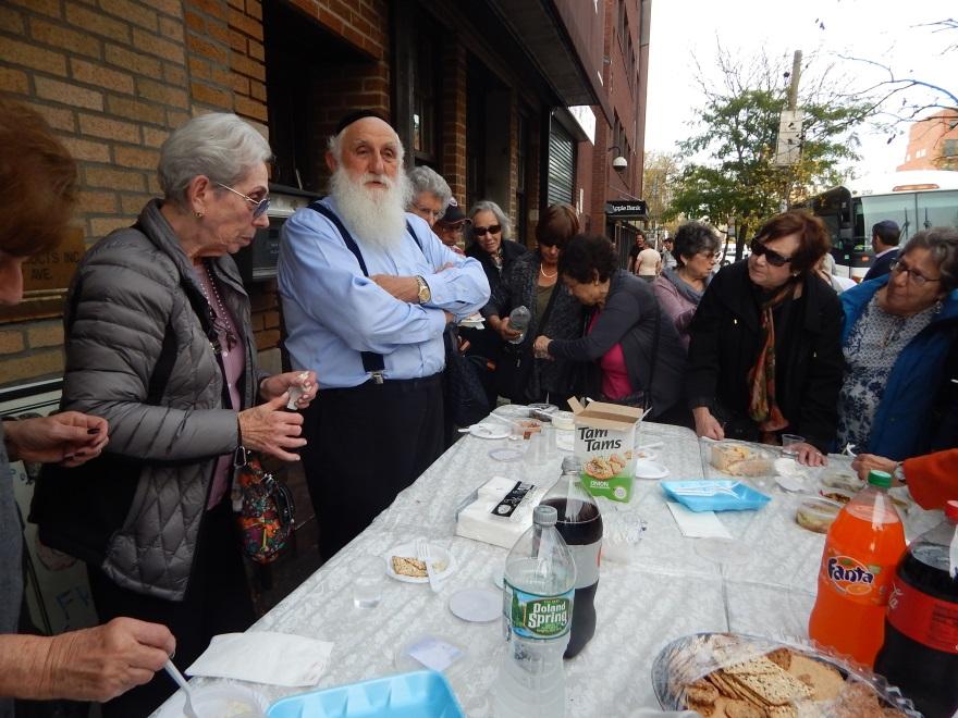 Herring tasting in Crown Heights.