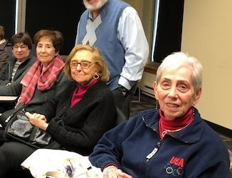 Photo: Rabbi Nesson With Attendees Of His Our Jewish World Class